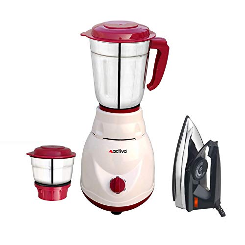 Activa Pluto 500 W 2 Jar Mixer Grinder with Electric Dry Iron...