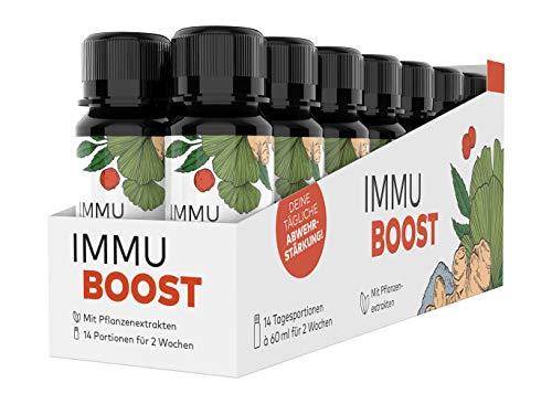 ImmuBoost ® Shot | 14 Shots | 1 Tag 1 Shot | 2 Wochen tägliche Unterstützung für das Immunsystem durch Vitamin C und Zink | Mit Ingwer, Acerola und Magnesium