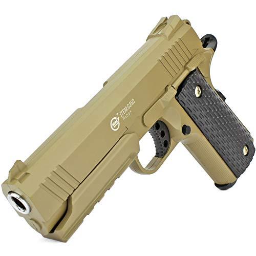 Softair Gun Airsoft Pistole + Munition   G25D. Profi Vollmetall   20cm. Inkl. Magazin & 0,5 Joule