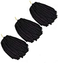 3Pcs/Pack Nubian Twist Hair Spring Twist Bomb Twist Hair Fluffy Twist Hair Ombre Colors Crochet Braids Synthetic Braiding Hair Extensions (#1B)