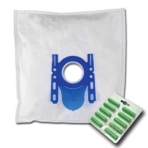 10 x Mr.Clean Staubsaugerbeutel + 10 Duftstäbe geeignet für Bosch BGL 35 MON BGL35MON8 - kompatibel zu Swirl S 67 S67
