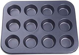 Pan Muffin Cupcake Bake Mould Mold Bakeware 12 Cups Dishwasher Safe Versatile Sturdy