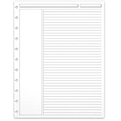 Set of 300 annotation ruled sheets Annotation margin is compatible with the Cornell note-taking method Headings for Subject and Date Substantial, archive-quality 90-gsm paper Can be used with any Circa notebook or agenda