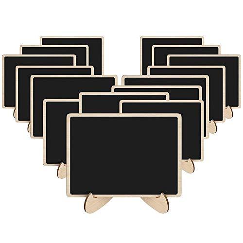 15er Pack Mini Chalkboards Schilder mit Staffelei, Mini Tafel Schilder mit Ständer für Essen, Hochzeit und Abschlussfeier, Food Signs und Special Event Dekoration von VOARGE