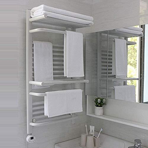 RUXMY Inicio Calentador de Agua eléctrico Radiador Montaje en Pared Toallero Estante de baño Estante de Secado 30deg; -70deg;Tendedero de Secadora de Ropa con Ajuste termostático