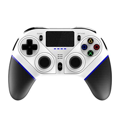 Controlador de juegos inalámbrico Bluetooth compatible con PS4/PS3/PC/ordenador portátil/Android/IOS Teléfono móvil, Programable antideslizante inalámbrico Gamepad Joystick con doble vibración