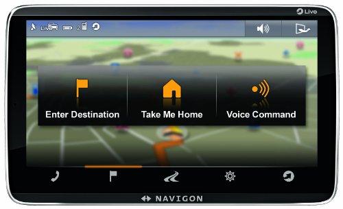 Navigon 92 Premium Live Navigationssystem (12,7 cm (5 Zoll) kapazitives Echtglas-Display, Europa 44, TMC, Navigon Flow, Navigon Live Services)