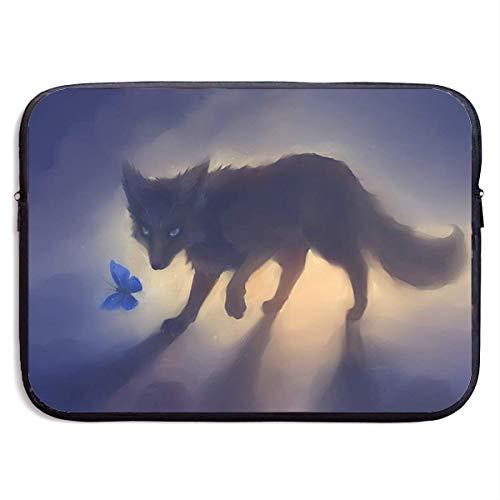 Laptop Case Black Fox Laptop Sleeve Protective Case Water-Resistant Neoprene Briefcase 15 Inch