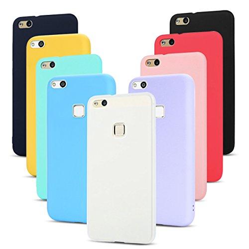 9 Pack Cover Huawei P10 Lite Custodia, SpiritSun Ultraslim Silicone Soft TPU Case Antiurto Custodia per Huawei P10 Lite Protezione Shell Copertura