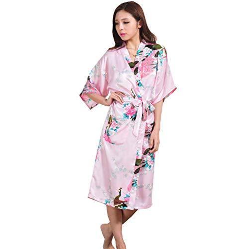 Pasen Vrouw Kimono Robe Korte Katoen Viscose Badjas Comfortabel Met Punten Eenvoudige Stijl Kant V-hals Met Verwijderbare Riemen Sauna Robe Thuis Mode pyjama