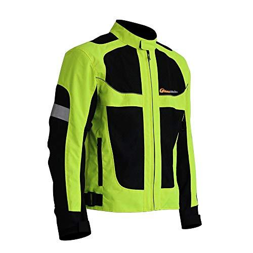 LKN, giacca da moto estiva traspirante, da corsa, con corazza protettiva 5XL
