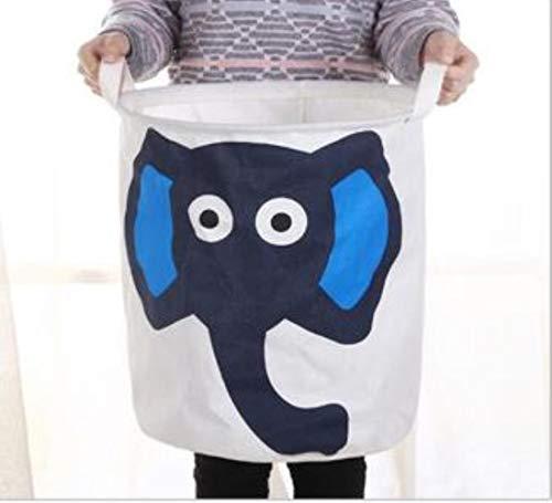 Grote dieren wasmand speelgoed opslag picknickmand doos katoen wassen kleding doos baby organizer, olifant
