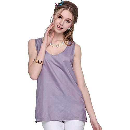 BRSL Vestido de Maternidad contra la radiación de Las Mujeres Embarazadas, Camiseta de Las Trajes de radiación de Fibra de Plata 100%, Mujeres Embarazadas, Ropa Protectora de EMF (Color : Morado)