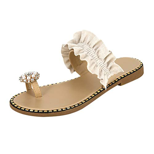 Pantoffel Cord-Slipper Arbeits-Pantoffeln Badelatschen Sommerschuhe Flipflop Flip Flop Badeschlappen Pool Schuhe Slipper Römersandalen Sandalette (43,Weiß)