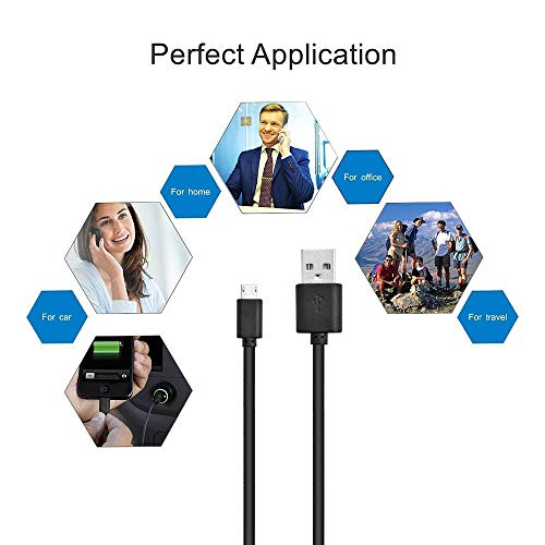 HZONE Kindle Fire Fast Charger, (UL Listed) AC Adapter 2A Rapid Charger with 5.0 Ft Micro-USB Cable Compatible with Fire 7 8 10 Tablet, HDX 6