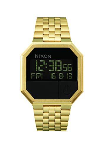 Nixon Orologio Unisex Digitale al Quarzo con Cinturino in Acciaio Inox – A158-502_Gold Tone