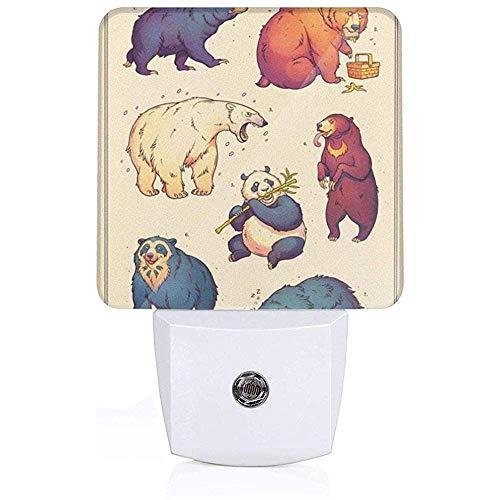 Lampe de nuit enfichable Bears avec capteur de lumière