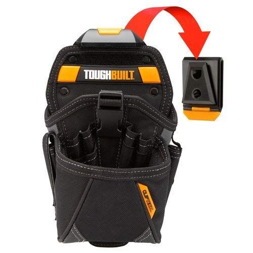 ToughBuilt - Drill Holster Specialist - Covered Accessory Pocket, 15 Pockets, 7 Drill Pockets & 2 Screw Driver Loops, Carabiner Attachments Loops (Patented ClipTech Hub & Work Belts) (TB-CT-20-LX)