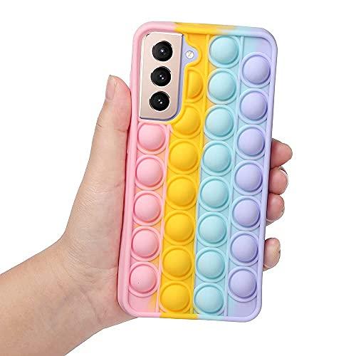 Leencum Phone Case,Push pop pop Bubble Fidget Toys Protecive Case, Silicone Soft Case Compatible Samsung Galaxy S21