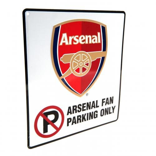 Arsenal FC Official Football Gift No Parking Sign A Great ChristmasBirthday Gift Idea For Men And Boys