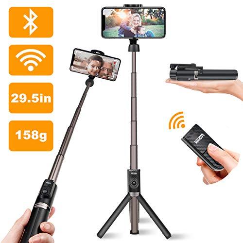 Viixm Bluetooth Selfie Stick Stativ 3 in 1 mit Abnehmbarer Drahtloser Fernbedienung, Aus Einer Robuste Aluminiumlegierung in Luftfahrtqualität für 99% iPhone Android Smartphones