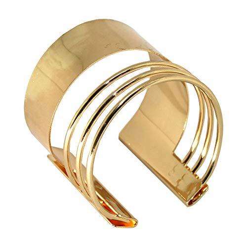 Handgefertigter Armreif für Damen in gold Armspange Oberarmreif Spange Bangle Vintage Armband