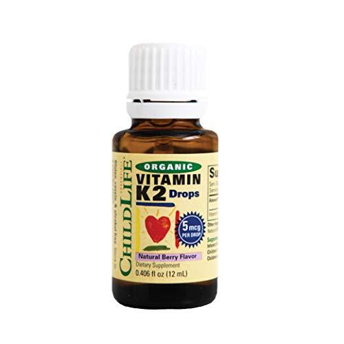 ChildLife Essentials Organic Vitamin K2 Berry Glass, 12 ml, 4101