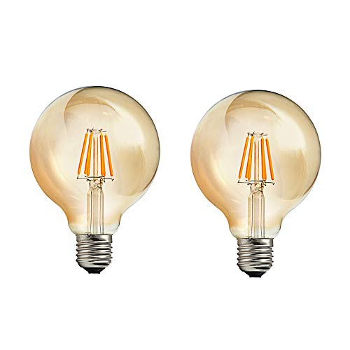 Bombilla Edison Vintage 6W equivalente a 60W LED Retro Decorativa Bombillas Lamparas...