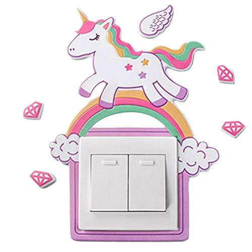 Brillan En La Oscuridad Unicornios-Dormitorio Decoraciones o Bolsa Fiesta-Rosa O Blanco