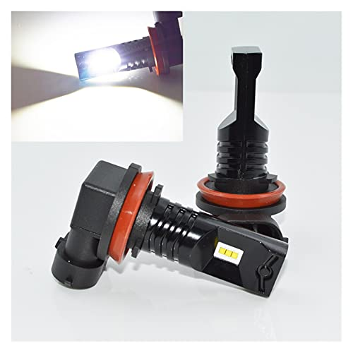 led para Autos 1pair Super Bright H11 H8 LED Lámpara antiniebla de Coche LED Car H11 Bulbo Auto Luces Automóviles LED Bulbos Coche Fuente de luz DC 12V 6000K led para Coches (Socket Type : H11)