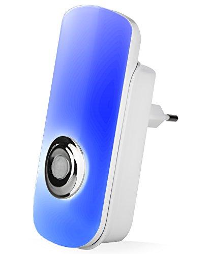 styletec LED Luz nocturna luz/enchufe con detector de movimiento/Linterna con carga por inducción