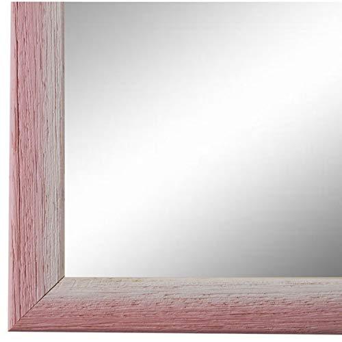 Online Galerie Bingold Spiegel Wandspiegel Rosa Pink Weiß 20 x 20 cm - Modern, Vintage, Shabby - Alle Größen - Made in Germany - AM -...