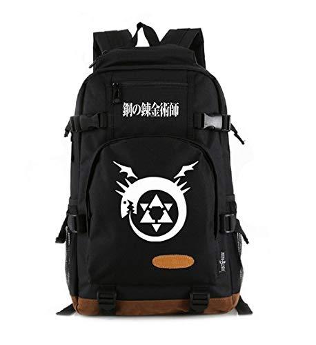 Anime Fullmetal Alchemist Cosplay Büchertasche Tagesrucksack Laptoptasche Schultasche