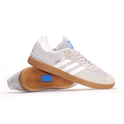adidas Skateboarding Men's Samba ADV Light Grey Heather Solid Grey/Footwear White/Bluebird Athletic Shoe