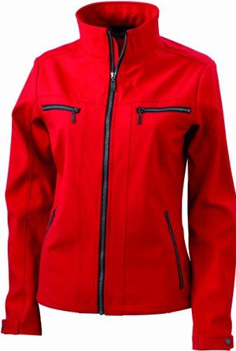 James & Nicholson Damen Jacke Softshelljacke Ladies' Tailored Jacket rot (red) Medium