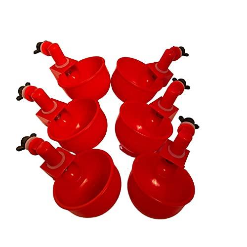 deenkk Paquete de 4 bebederos automáticos para aves de corral – Chicken Waterers para patio trasero, gallinas de pavo, gallinas, pollos de engorde de agua Waterer aves de corral