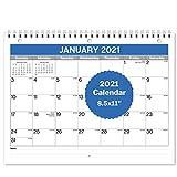 2020 2021 Wandkalender 8,5x11, 18 Monate, Juli 2020 bis Dezember 2021, akademischer Jahreskalender