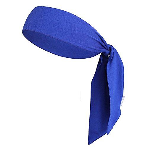 JJunLiM Sport-Stirnband für Frauen und Männer - Non-Slip-Stirnband Sweatband Head Krawatten Ideal zum Laufen, Ausarbeiten, Tennis, Karate, Volleyball & Performance Stretch & Moisture Wicking (Blue)