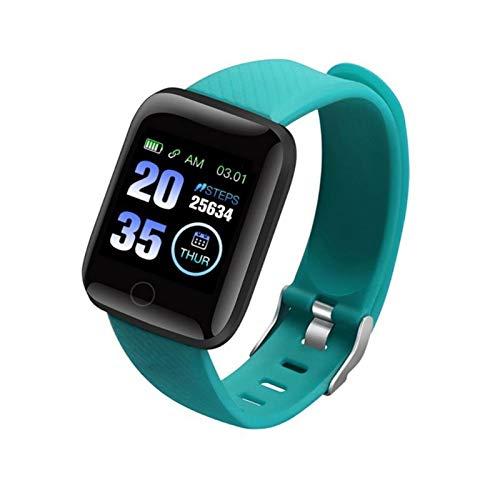 XUEMEI Smart Watch Health Fristband Sports Watch Presión Arterial Presión del Corazón Pedómetro Smart Pulsera Impermeable (Color : Green)