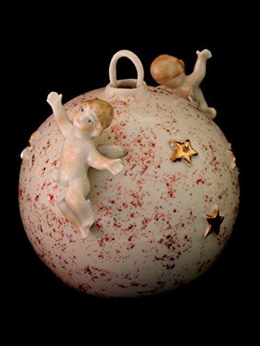 Boule de Noël avec anges – Porcelaine Capodimonte -