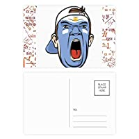 顔のメイクを叫んでアルゼンチンキャップ 公式ポストカードセットサンクスカード郵送側20個