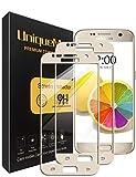 UniqueMe [2 Pack] Protector de Pantalla para Samsung Galaxy S7 Gold, 9H Dureza Vidrio Templado [Garantía de por Vida]- Dorado