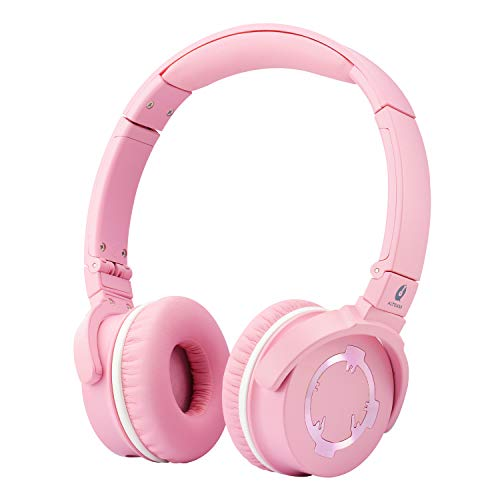 ALTEAM Wired On-Ear Foldable Headphone Hi-Res Headset with Mic Microphone, 3.5mm Jack for HiFi Music Cell Phone Call, Adjustable Headband, Cute Present Women Mom Mother Teen Girl Friend