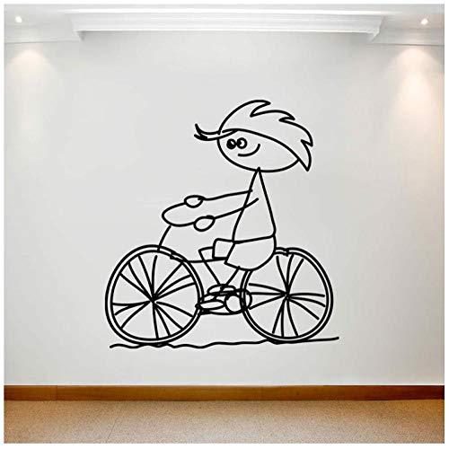 Hanzeze Cartoon grote muur achtergrond sticker kunst verwijderbare waterdichte kinderfiets decoratieve schilderij foto 57x61 cm