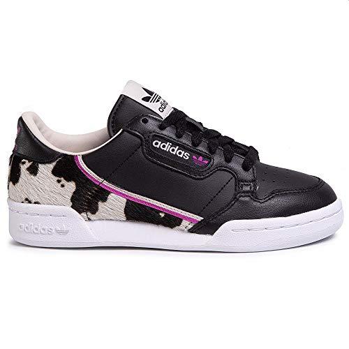 adidas Damen Continental 80 W Sneaker Schwarz, 38 2/3
