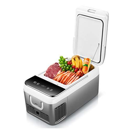 Mini Mesur Refrigerador portátil18L de vehículos automóvilescamionetas vehículos recreativos Botes refrigeradores para Conducir Viajes Pesca en Exteriores y en el hogar12 / 24 VCC y220 CA