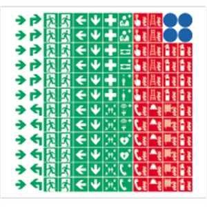 Piktogramm - Sammelbogen 8 mm nach ISO 7010 Material: Folie transparent Der praktische Sammelbogen mit 144 selbstklebenden Symbolen aus den Bereichen: Brandschutz, Fluchtweg