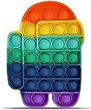 Among Us Push Pop Bubble Sensoriale Fidget Toy, antistress anti-ansia Squeeze Bubble Giocattoli in silicone per coltivare le abilità aritmetiche mentali dei bambini (colore