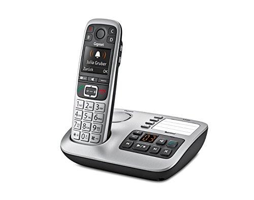 Gigaset E560A Telefono Cordless, Segreteria, Tasti Grandi, Numeri sul Display Grandi, Tastiera Illuminata, Suonerie e Audio Potenziato, Tasto SOS, Grigio [Italia]