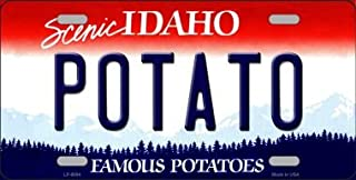 Potato Idaho Background Novelty Metal License Plate LP-9894